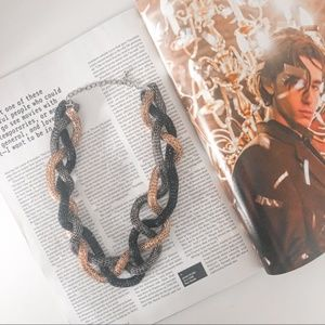 Braided Twisted Chain Statement Necklace